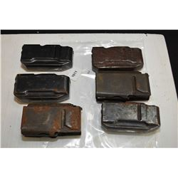 Six assorted rifle mags