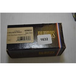 "New in package Burris scope rings ZEE RING QUICK DETACH, 1"" matte black no. 420031"
