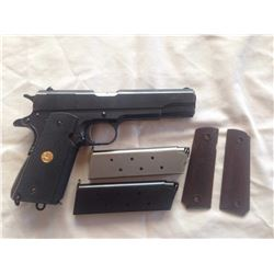 RESTRICTED Colt (Remington brand) Model 1911 (?) .45 auto cal 7 shot semi automatic pistol w 127mm b