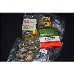 Four 50 count boxes of .25 automatic including two Winchester brand, both full, PMC full box, Reming