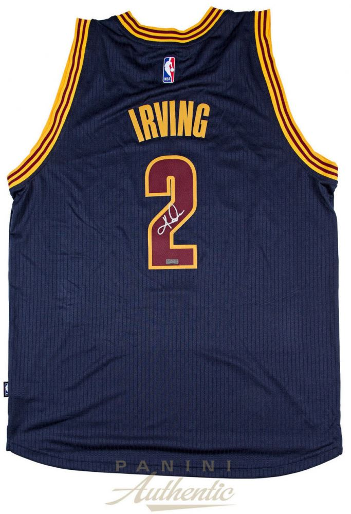 detailed look cf691 da74d Kyrie Irving Signed Cavaliers Authentic Adidas Jersey (Panini ...
