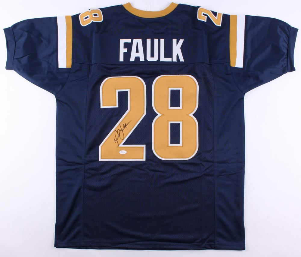 on sale 93e4f 9cf39 Marshall Faulk Signed St. Louis Rams Jersey (JSA COA)