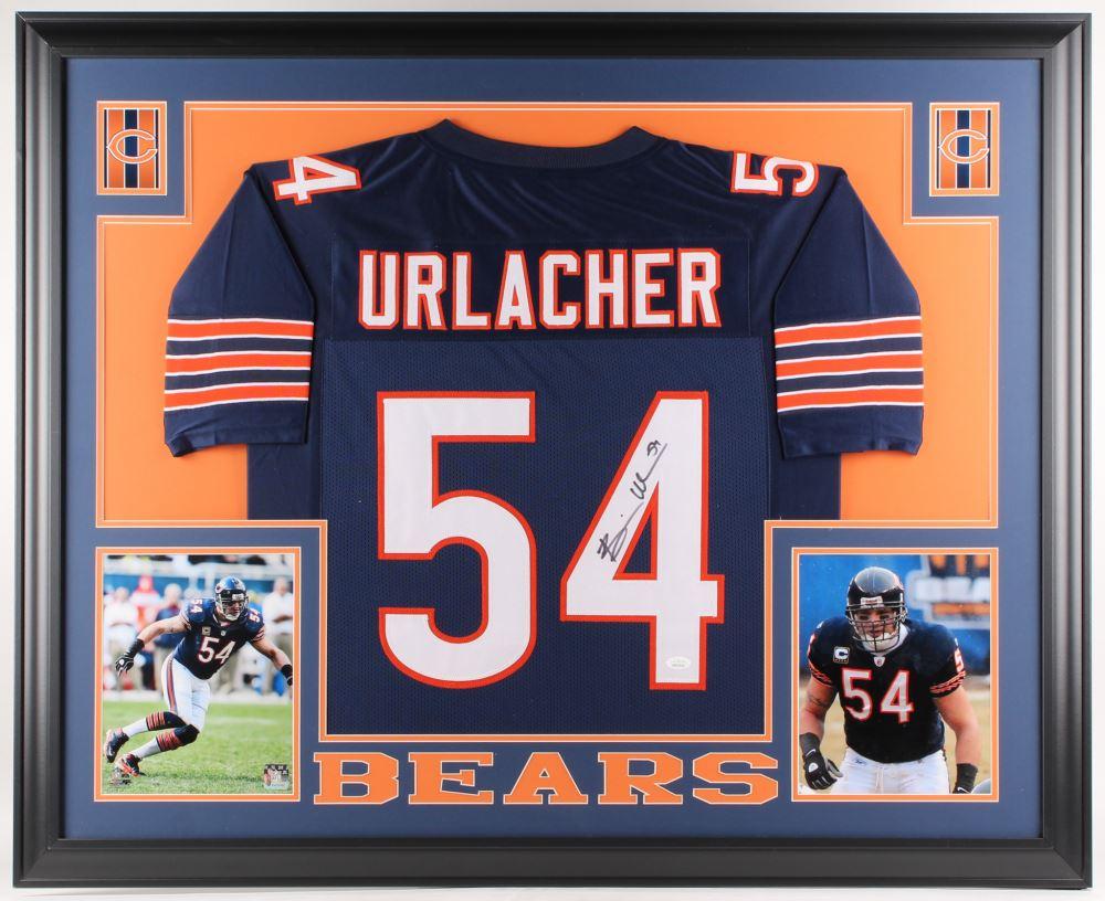 purchase cheap 85ae0 8a3d4 Brian Urlacher Signed Chicago Bears 35x43 Custom Framed ...