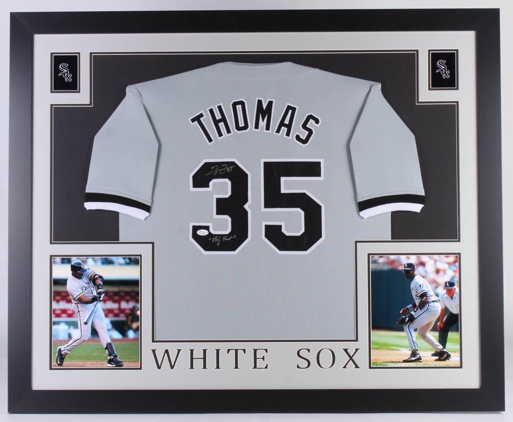 separation shoes 85ef0 9c5d6 Frank Thomas Signed Chicago White Sox 35x43 Custom ...