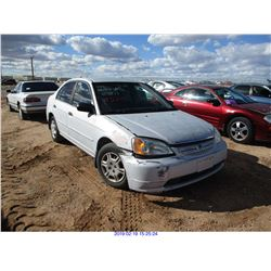2001 - HONDA CIVIC//RESTORED SALVAGE