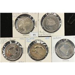 5 CANADA TRADE DOLLARS UNC 1978 GRANDE CACHE,