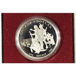 1990 CANADA KELSEY PROOF SILVER DOLLAR