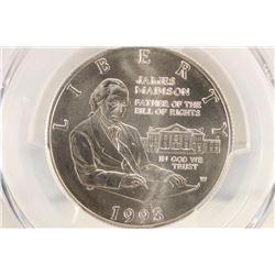 1993-W MADISON-BILL OF RIGHTS SILVER HALF DOLLAR