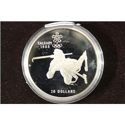 1986 CANADA $20 OLYMPIC SILVER PROOF