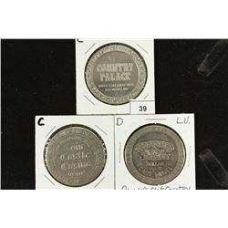 3 ASSORTED $1 GAMING TOKENS COUNTRY PALACE