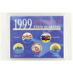 1999 COLORIZED STATE QUARTERS SET AS SHOWN