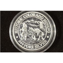 20.3 GRAM .999 FINE SILVER ROUND HISTORIC COLORADO