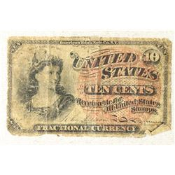 CIVIL WAR TEN CENT US FRACTIONAL CURRENCY