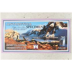 1999 ANTARCTICA SPECIMEN $1 WITH PENGUINS