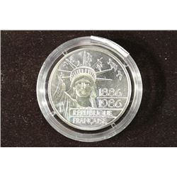 1986 FRANCE SILVER PIEDFORT 100 FRANC LIBERTY