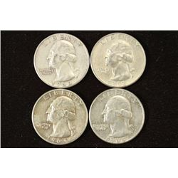 1960,62-D,63 & 64-D WASHINGTON SILVER QUARTERS