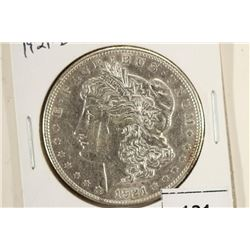 1921-D MORGAN SILVER DOLLAR WITH SCRATCHES