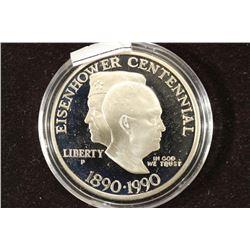 1990-P EISENHOWER CENTENNIAL PROOF SILVER DOLLAR