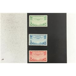SET OF 3 TRANS PACIFIC AIR MAIL STAMPS SCOTT #C20-