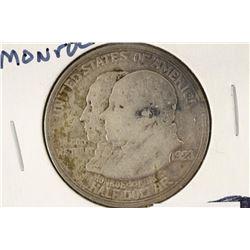 1923-S MONROE SILVER COMMEMORATIVE HALF DOLLAR