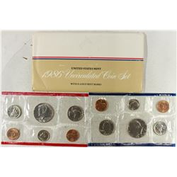 1986 US MINT SET (UNC) P/D (WITH ENVELOPE)