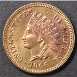 1869 INDIAN CENT, CH BU