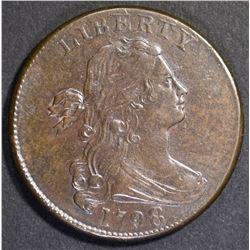 1798 DRAPED BUST LARGE CENT  BU