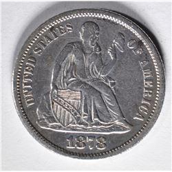 1878-CC SEATED DIME  XF/AU  RARE!!
