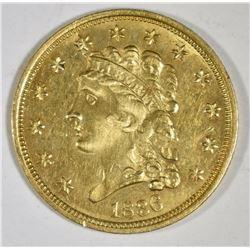 1836 CLASSIC HEAD 2 1/2 DOLLAR GOLD AU/BU