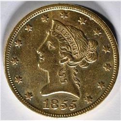 1855 $10 GOLD   BU