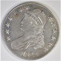 1824 CAPPED BUST HALF DOLLAR  CH BU
