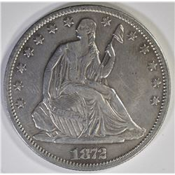 1872-CC SEATED HALF DOLLAR  XF