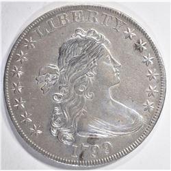 1799 BUST SILVER DOLLAR  AU