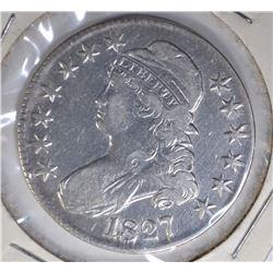 1827 BUST HALF VF