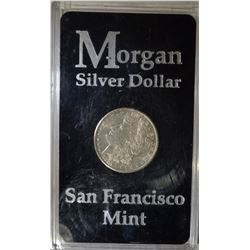 1921-S MORGAN DOLLAR CH BU IN PLASTIC CASE