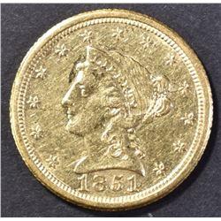 1851-O $2.50 GOLD AU/BU