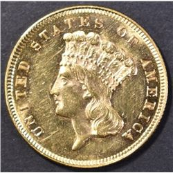 1879 $3.00 GOLD CH BU SEMI-PL