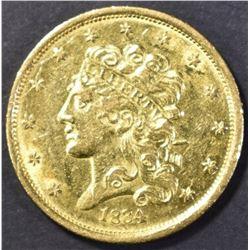 1834 $5.00 GOLD CLASSIC HEAD AU/BU