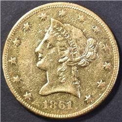 1861 $10 GOLD AU