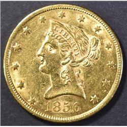 1856 $10 GOLD CH BU