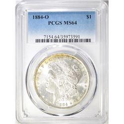 1884-O MORGAN DOLLAR PCGS MS-64