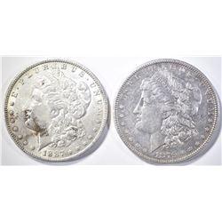 (1) 1879-O & (1) 1887-O MORGAN