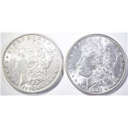(1) 1883 & (1) 1896 MORGAN DOLLARS
