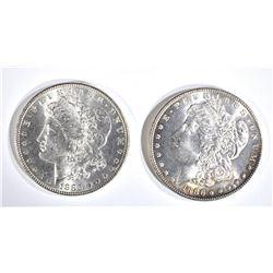 1885 & 86 CH BU MORGAN DOLLARS