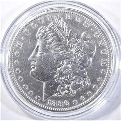 1886-S MORGAN DOLLAR, AU/BU cleaned