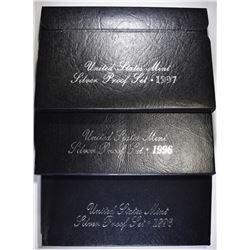2-1996 & 1-1997 U.S.  SILVER PROOF SETS
