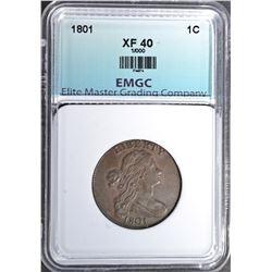 1801 LARGE CENT, EMGC XF NICE- 1/000