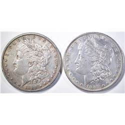 1887-O & 1884 MORGAN DOLLARS AU/BU