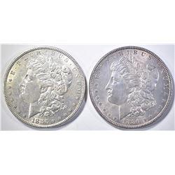 2 MORGAN DOLLARS 1886 BU & 1880 BU