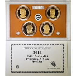 2012 U.S. PRESIDENTIAL PROOF SET BOX/COA